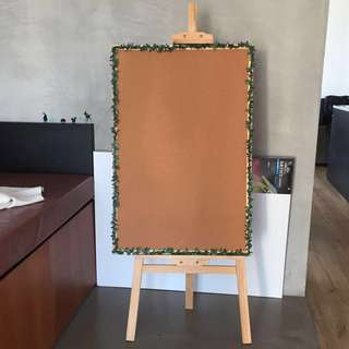Large corkboard with leaves trimmings