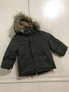 H&M Winter Jacket with Detachable Fur Hood