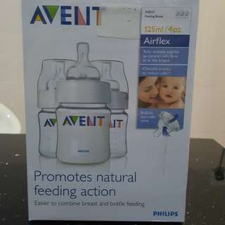 Avent bottles, 125ml x 3 in a box