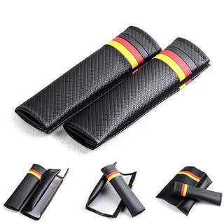 BMW ///M Color Carbon Fiber Seat Belt Cover Shoulder Pad Cushion For BMW X5 X6 E90 E91 E92 E93 M3 E60 E61 F10 F30 M5 E63 E64