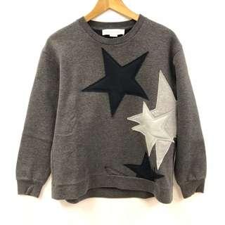 Stella mccartney gray with stars sweater size 40