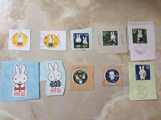 包郵 日本郵票:Miffy米菲