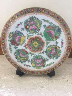 Antique Plate size 18 x 18 cm