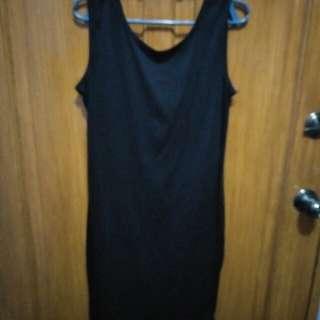 Black Dress with Back Slit
