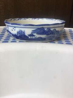 Porcelain Bowl bonsai pot size 15 x 15 cm