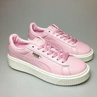 (全新)Puma厚底鞋二代  粉色鞋 蕾哈娜 厚底 板鞋 潮鞋 基本款 少女粉