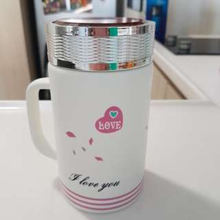 Brand new ceramic insulated mug