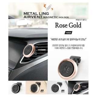 權世界@汽車用品 韓國 Autoban 冷氣出風口固定式 磁鐵吸附360度迴轉智慧型手機架 AW-D791-四色選擇