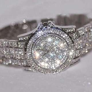Postage Free Promotion: 5-15 Days Shipping Time for Women's Shiny Rhinestone Wrist Watch