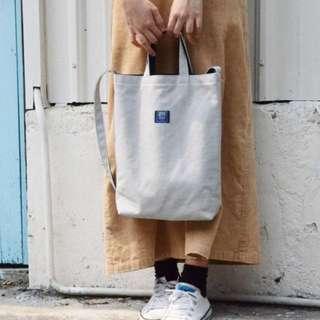 🚚 瀏海樹-雙色三用帆布袋(灰色+深藍)#可換物
