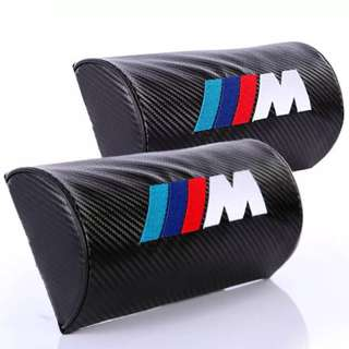 BMW M/// Neck Pillow Cushion Microfiber PU Leather Head Neck Rest Cushion Relax Neck Support Headrest for BMW
