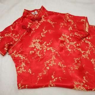 Cheongsam (red colour)