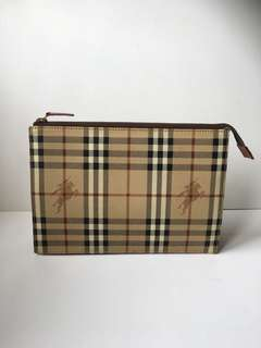 Authentic Burberry's Vintage Clutch Bag
