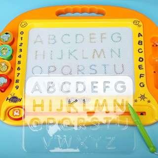 儿童益智玩具 👐卡通涂鸦磁性画板6片专用配件