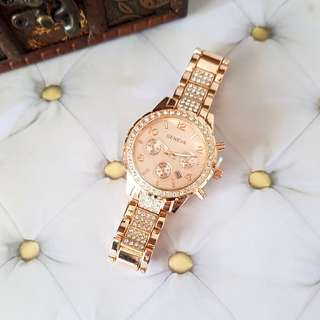 🆕️Geneva Rose Gold Analog Watch