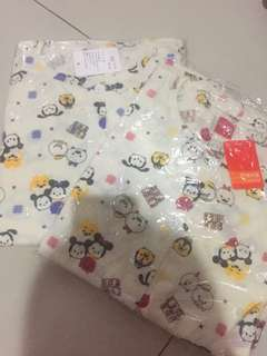 Piyama mickey tsum2 disney set long pajamas tsum tsum