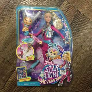 Barbie Starlight Adventure Galaxy Barbie Doll & Flying Cat