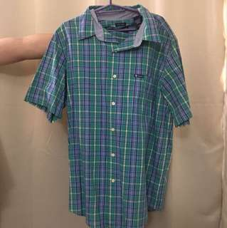 Chaps Checkered Polo Short Sleeves