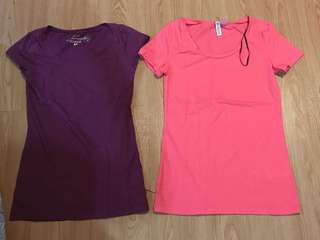 HnM - DIVIDED shirt purple and pink