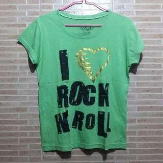 Green I ❤ Rock 'n Roll Shirt