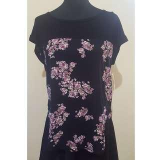 BNWT Black Floral Blouse