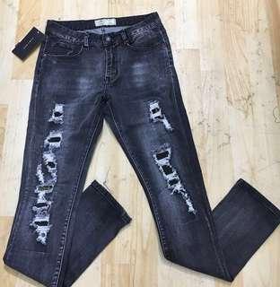 Celana Jeans Zara Original Ripped