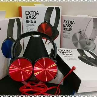 頭戴式耳罩耳機麥。可通話。