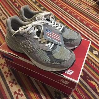 美國製 new balance 990 元祖灰 灰色 復古 90s 慢跑鞋 非 996 993