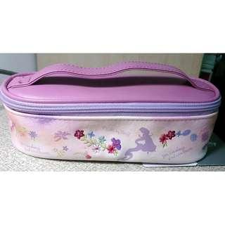 全新日本帶回 迪士尼 disney 小美人魚 皮革化妝包 鉛筆盒 收納袋