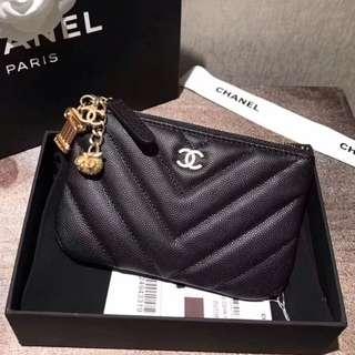 Chanel Chevron Mini O Case
