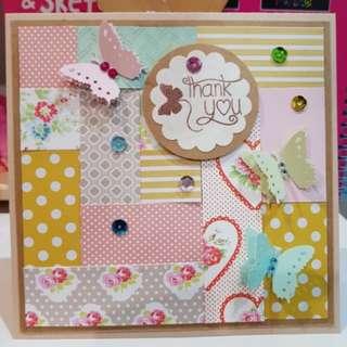 BN Handmade All Occasions Card - Butterflies & Flowers