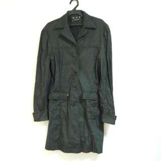 🚚 黑小條紋中長外套