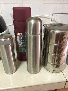 Stainless steel flask, tiffin