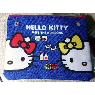 全新日本帶回 sanrio三麗鷗 一番賞 kitty 復古化妝包 手拿包 小錢包 凱蒂貓