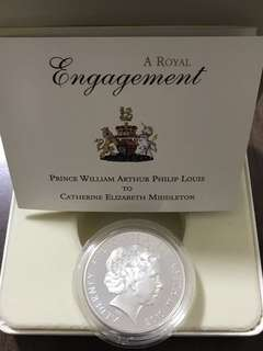 5 Pounds Silver Engagement Coin 2010
