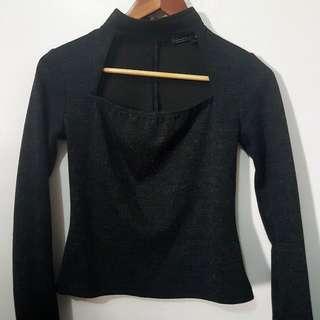 Black Choker long sleeves hq