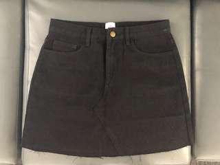 Black Denim Skirt AU size 10