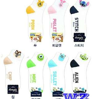🚚 韓國襪子 正版迪士尼露出造型短襪