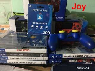 Ps4 games, controllers and ps4 plus