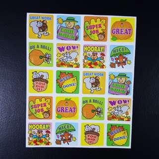 [INSTOCK] BN Fall/Autumn Reward/Merit Stickers (Carson Dellosa)