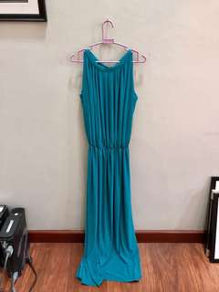 Blue Green Long Formal Dress