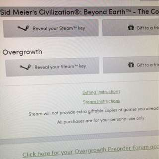 Games selling at $10 each (overgrowth is sold)