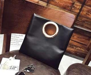 包包2018欧美时尚新款圆环包手提包小包百搭单肩斜挎包小包包