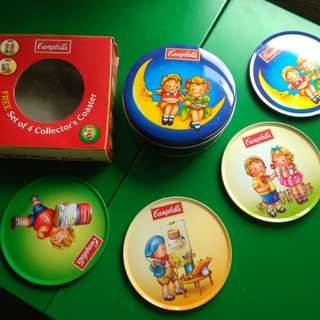 Campbell soup tin coasters HTF