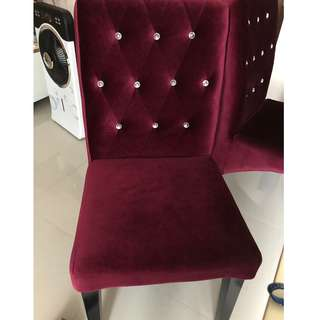 Velvet french dining chair