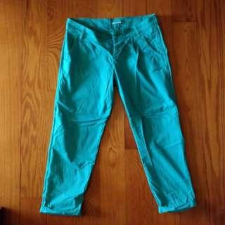 Terranova Blue Green Capri Pants