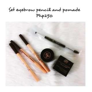 Set eyebrow pencil and pomade