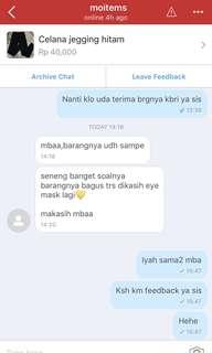 Testi dari customer