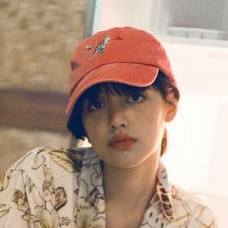 ::OH YEAH!:::泰國設計師品牌 WM 刺繡老帽 Dad cap 石洗復古質感 刺蝟 噴火恐龍刺繡 高質感棒球帽