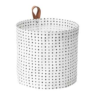 [IKEA] PLUMSA Storage Basket / White+Black